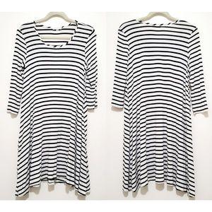SOCIALITE | Jersey Knit Striped Swing Dress